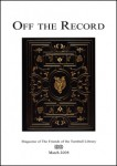 Special issue of Off the Record for John Milton anniversary in 2008.